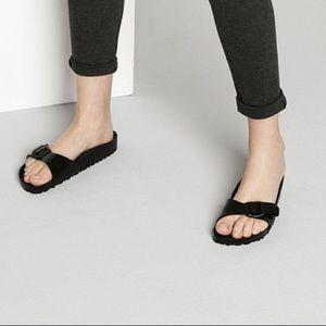birkenstock rubber one strap sandal 38